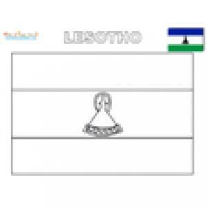 Coloriage du drapeau du Lesotho