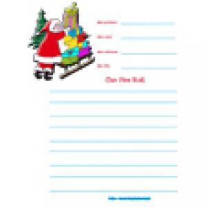 Papier à lettre lettre Père Noël
