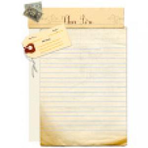 Papier à lettre Père Noël : papier ancien