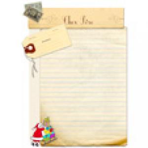 """Papier à lettre Pere Noël """"usé"""""""