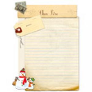 Papier à lettre au Père Noël jauni