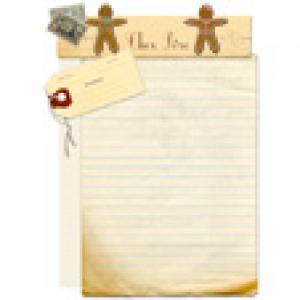 Papier à lettre au Père Noël pain d'épices