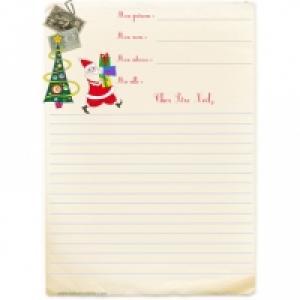 Papier à lettre pour le Père Noël gratuit