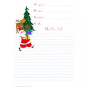 papier à lettre du Père Noël bonhomme de neige gratuit
