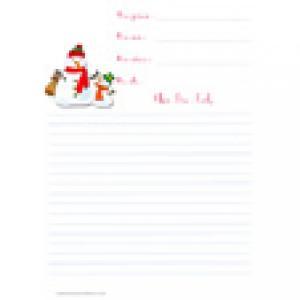 Papier pour lettre au Père Noël
