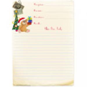 Papier à lettre à ligne jauni