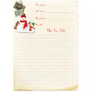 Papier à lettre Père Noël à ligne gratuit