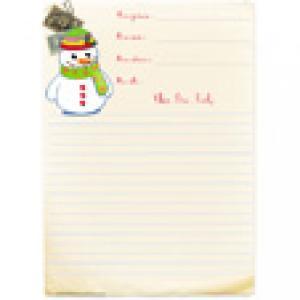 Papier à lettre décoré d'un bonhomme de neige gratuit