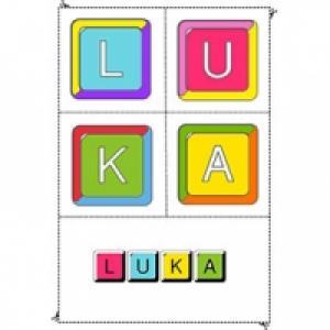 Coloriage prénom en lettres de scrable fille