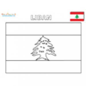 Coloriage du drapeau du Liban