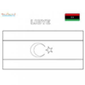 Coloriage du drapeau de la Libye