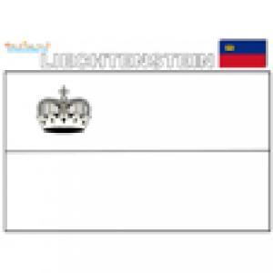 Coloriage du drapeau du Liechtenstein