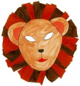 Bricolage pour réaliser un masque de lion