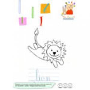 L de lion imagier de lettres en minuscule
