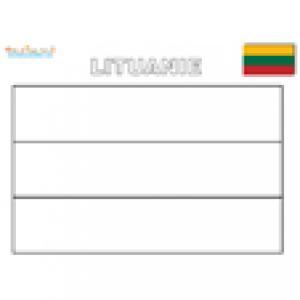 Coloriage du drapeau de la Lituanie
