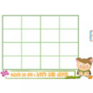 Carte de jeu ours 44 : grille de loto des mots
