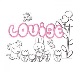coloriage prénom Louise