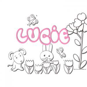 coloriage prénom Lucie