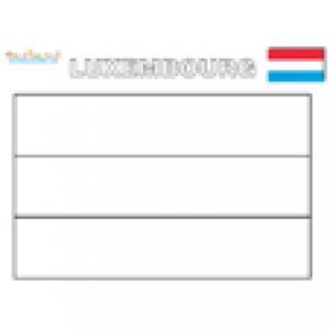 Coloriage du drapeau du Luxembourg