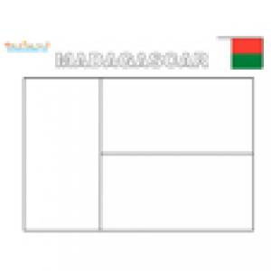 Coloriage du drapeau de Madagascar