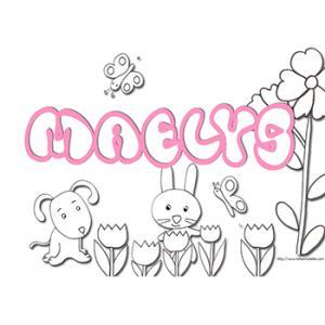coloriage prénom Maelys