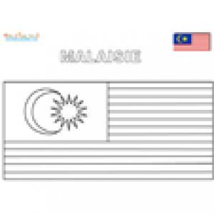 Coloriage du drapeau de Malaisie