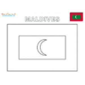 Coloriage du drapeau des Maldives