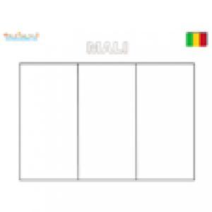 Coloriage du drapeau du Mali