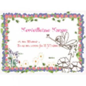 Diplôme merveilleuse maman, cadre petites fleurs roses