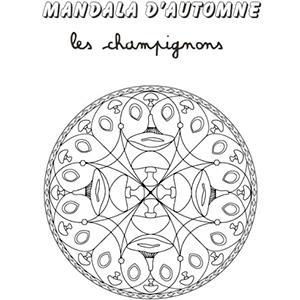 Coloriage mandala champignon