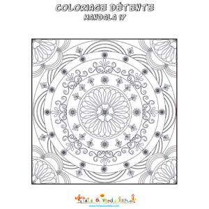 Coloriage d'un mandala foulard