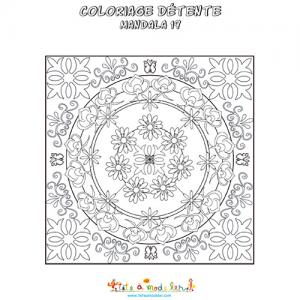 Coloriage d'un mandala carreau de céramique