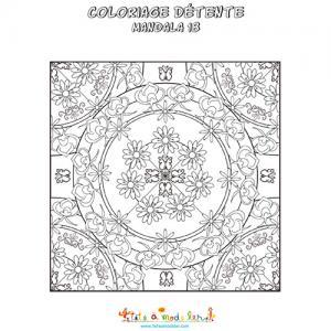 Mandala 18, mandala de fleurs
