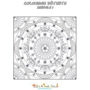 Mandala en carré façon vitrail
