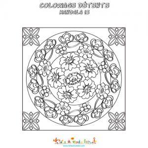 Coloriage détente : variation japonisante