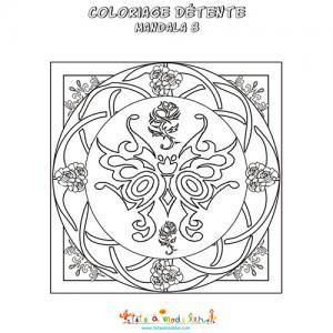 Coloriage détente 8 Art Déco