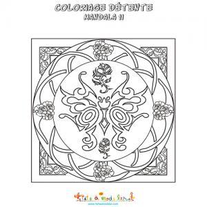 Mandala vitrail années 1920 à colorier
