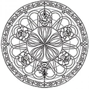 Mandala fleurs et oiseaux