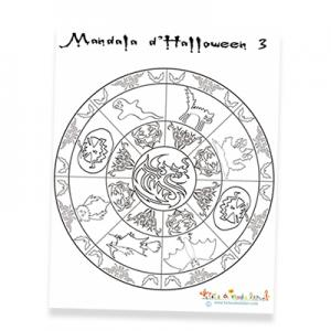Mandala ronde d'Halloween