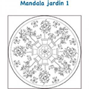 Mandala jardin pots de fleurs