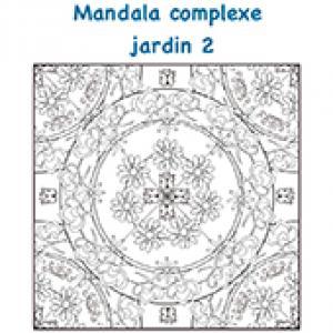 Mandala de fleurs complexe