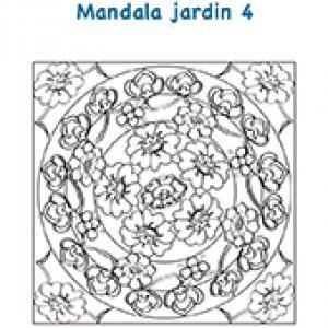 Mandala fleurs et arabesques