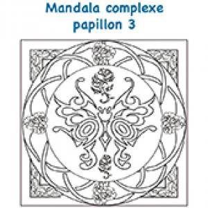 Mandala papillon art déco complexe