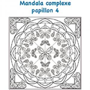 Mandala des papillons complexe