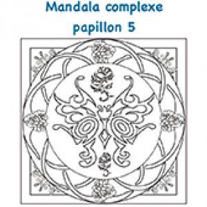 Mandala complexe des papillons 5