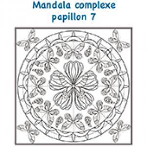 Mandala ronde des papillons complexe
