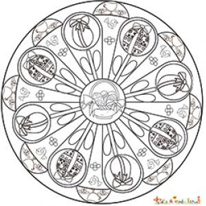 Mandala des oeufs de Pâques