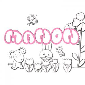coloriage prénom Manon