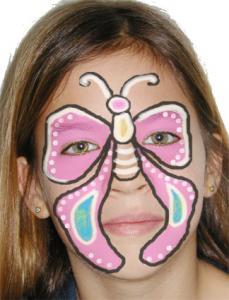 maquillage papillon pour enfant