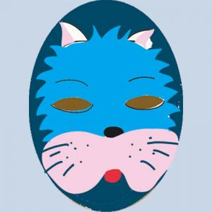 Masque de chat bleu